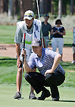 August 3, 2012: J.J. Henry from Ft. Worth,TX lines up a putt with his caddy on the 14th green during the second round of the 2012 Reno-Tahoe Open Golf Tournament at Montreux Golf & Country Club in Reno, Nevada.