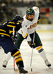 30 December 2007: University of Vermont Catamounts' forward Brayden Irwin, a Sophomore from Toronto, Ontario, in action against the Quinnipiac University Bobcats at Gutterson Fieldhouse in Burlington, Vermont. The Bobcats defeated the Catamounts 4-1 to win the Sheraton/TD Banknorth Catamount Cup Tournament...Mandatory Photo Credit: Ed Wolfstein Photo