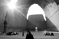 Ctesiphon, central Iraq, March 04, 2003.Iraqi families picnic under the great arch of Ctesiphon, (built during the 3rd century BC, it is the biggest brick arch in the world) on the first day of the holy month of Moharram, commemorating the departure of prophet Mohammed from Mecca to Medina.
