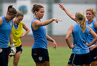 Lauren Cheney. The USWNT practiced at Beijing Normal University in Beijing, China.  The team will now move to Qinhuangdao to prepare for their first two group games of the 2008 Olympics.