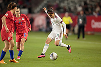 CARSON, CA - FEBRUARY 7: Jacqueline Ovalle #11 of Mexico moves with the ball during a game between Mexico and USWNT at Dignity Health Sports Park on February 7, 2020 in Carson, California.