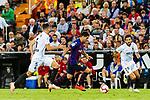 Luis Suarez of FC Barcelona (C) in action during their La Liga 2018-19 match between Valencia CF and FC Barcelona at Estadio de Mestalla on October 07 2018 in Valencia, Spain. Photo by Maria Jose Segovia Carmona / Power Sport Images