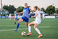 Boston, MA - Friday August 04, 2017: Julie King and Katie Bowen during a regular season National Women's Soccer League (NWSL) match between the Boston Breakers and FC Kansas City at Jordan Field.