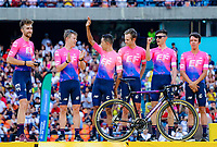 MEDELLIN - COLOMBIA, 10-02-2019: Equipo Team EF Education First - DRAPAC (USA) durante la presentación oficial de equipos que participarán en el Tour Colombia 2.1 2019. /  Team EF Education First - DRAPAC (USA) during the presentation of the whole teams that participate inthe Tour Colombia 2.1 2019   Photo: VizzorImage / Anderson Bonilla / Cont