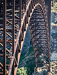 The underneath of the I. B. Perrine Bridge, US 93, over the Snake River and Canyon, Twin Falls, Idaho
