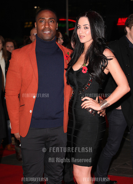 Simon Webbe and Maria Koukais arriving for the World Premiere of Gambit, at the Empire Leicester Square, London. 07/11/2012 Picture by: Alexandra Glen / Featureflash