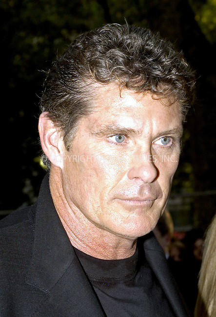 David Hasselhoff at the UK premiere of I, Robot, London, 4 August 2004. ..FAMOUS PICTURES AND FEATURES AGENCY.tel  +44 (0) 20 7731 9333.fax +44 (0) 20 7731 9330.e-mail info@famous.uk.com.www.famous.uk.com.FAM13335