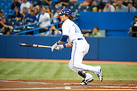 Toronto Blue Jays outfielder Colby Rasmus #28 during an American League game against the Seattle Mariners at the Rogers Centre on September 13, 2012 in Toronto, Ontario.  Toronto defeated Seattle 8-3.  (Mike Janes/Four Seam Images)