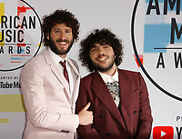 LOS ANGELES, CA - OCTOBER 09: Lil Dicky (L) and Benny Blanco attends the 2018 American Music Awards at Microsoft Theater on October 9, 2018 in Los Angeles, California. <br /> CAP/MPI/IS<br /> &copy;IS/MPI/Capital Pictures
