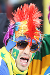 15 JUN 2010: Brazil fan. The Brazil National Team defeated the North Korea National Team 2-0 at Ellis Park Stadium in Johannesburg, South Africa in a 2010 FIFA World Cup Group G match.