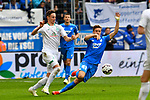 11.05.2019, PreZero Dual Arena, Sinsheim, GER, 1. FBL, TSG 1899 Hoffenheim vs. SV Werder Bremen, <br /> <br /> DFL REGULATIONS PROHIBIT ANY USE OF PHOTOGRAPHS AS IMAGE SEQUENCES AND/OR QUASI-VIDEO.<br /> <br /> im Bild: Marco Friedl (SV Werder Bremen #32) gegen Christoph Baumgartner (TSG Hoffenheim #42)<br /> <br /> Foto &copy; nordphoto / Fabisch