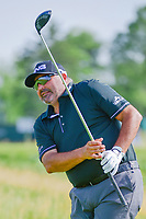 &Aacute;ngel Cabrera (ARG) watches his tee shot on 12 during Thursday's round 1 of the 117th U.S. Open, at Erin Hills, Erin, Wisconsin. 6/15/2017.<br /> Picture: Golffile | Ken Murray<br /> <br /> <br /> All photo usage must carry mandatory copyright credit (&copy; Golffile | Ken Murray)