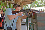 Firing Weapon (AK-47) On Range