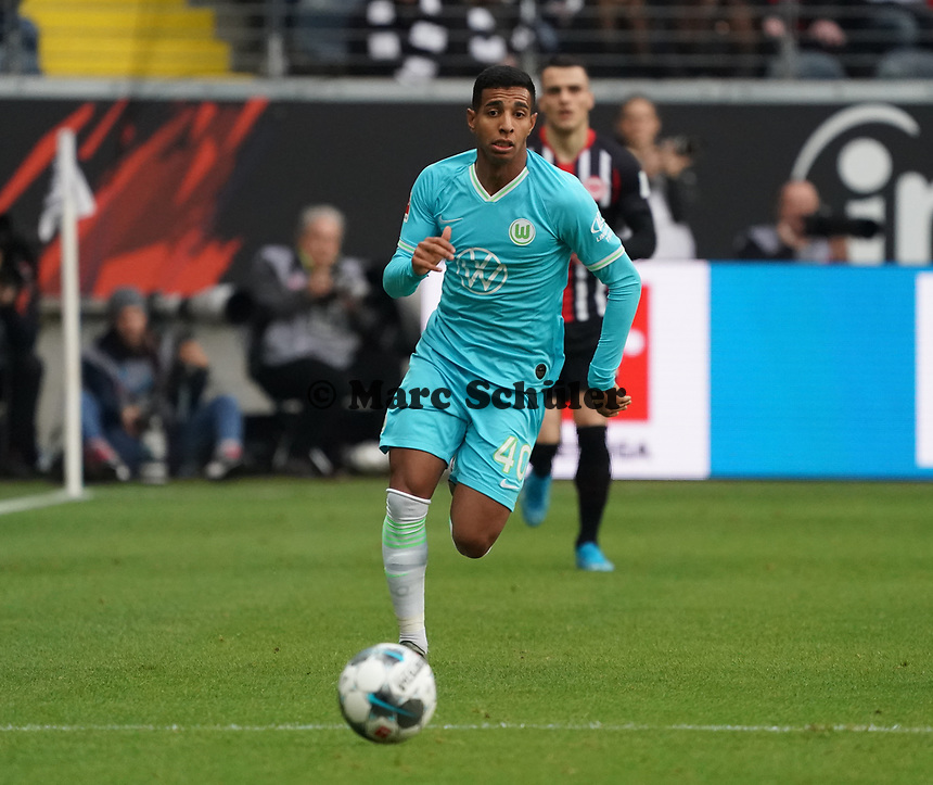Joao Victor Santos Sa (VfL Wolfsburg) - 23.11.2019: Eintracht Frankfurt vs. VfL Wolfsburg, Commerzbank Arena, 12. Spieltag<br /> DISCLAIMER: DFL regulations prohibit any use of photographs as image sequences and/or quasi-video.