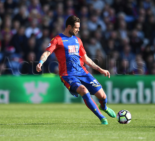 April 29th 2017, Selhurst Park, London England; EPL Premier league football, Crystal Palace versus Burnley; Damien Delaney, Defender for Crystal Palace plays the ball long forward