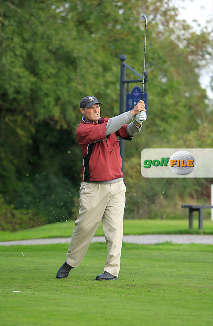 John Duignam (Slade Valley G.C) on the 9th tee during Round 2 of The Cassidy Golf 103rd Irish PGA Championship in Roganstown Golf Club on Friday 11th October 2013.<br /> Picture:  Thos Caffrey / www.golffile.ie