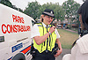 Parks Constabulary police officer & police dog van, Finsbury Park Haringey London UK