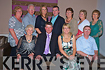 John Kelly, Killarney, who retired from An Garda Siochana after 31 and a half years pictured with Nora, Lorraine and Laurence Kelly, Margaret Walsh, Eamon Kelly, Nuala Kelly, Brian Kelly, Noreen Kelly, Joan Murphy and Eileen O'Shea at his retirement party in the Killarney Oaks on Thursday night............