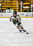 16 February 2019: University of Vermont Catamount Forward Ève-Audrey Picard, a Junior from Longueuil, Québec, in action against the Holy Cross Crusaders at Gutterson Fieldhouse in Burlington, Vermont. The Lady Cats defeated the Crusaders 4-1 to sweep their 2-game weekend series. Mandatory Credit: Ed Wolfstein Photo *** RAW (NEF) Image File Available ***