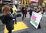 Big Hug Day: Broadway comes together to spread kindness and raise funds for Children's Hospitals on January 21, 2018 at Duffy Square, Times Square in New York City.