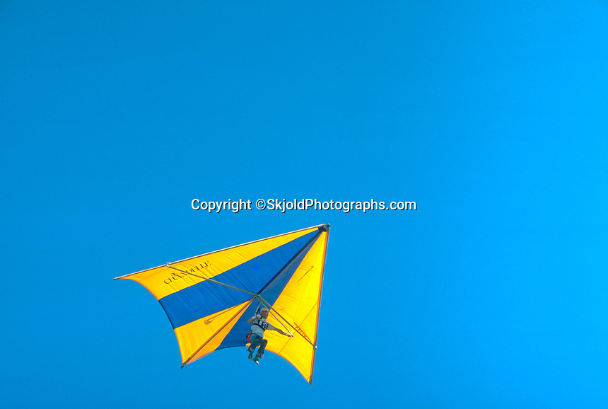 Freedom in the skys flying hang glider age 32.  Nelson Wisconsin USA