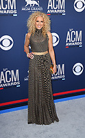 LAS VEGAS, NEVADA - APRIL 07: Little Big Town, Kimberly Schlapman attends the 54th Academy Of Country Music Awards at MGM Grand Hotel &amp; Casino on April 07, 2019 in Las Vegas, Nevada. <br /> CAP/MPIIS<br /> &copy;MPIIS/Capital Pictures