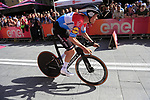Luxembourg Champion Bob Jungels (LUX) Deceuninck-Quick Step powers off the start ramp of Stage 1 of the 2019 Giro d'Italia, an individual time trial running 8km from Bologna to the Sanctuary of San Luca, Bologna, Italy. 11th May 2019.<br /> Picture: Eoin Clarke | Cyclefile<br /> <br /> All photos usage must carry mandatory copyright credit (© Cyclefile | Eoin Clarke)