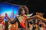 27. 02.2019, Maritim Hotel , Koeln,  GER, Karnevalssitzung des 1. FC Koeln , <br /> <br /> im Bild / picture shows: <br /> Markus Ritterbach Präsident / Praesident (1.FC Koeln), als Kiss verkleidet eroeffnet die Veranstaltung<br /> <br /> Foto © nordphoto / Meuter