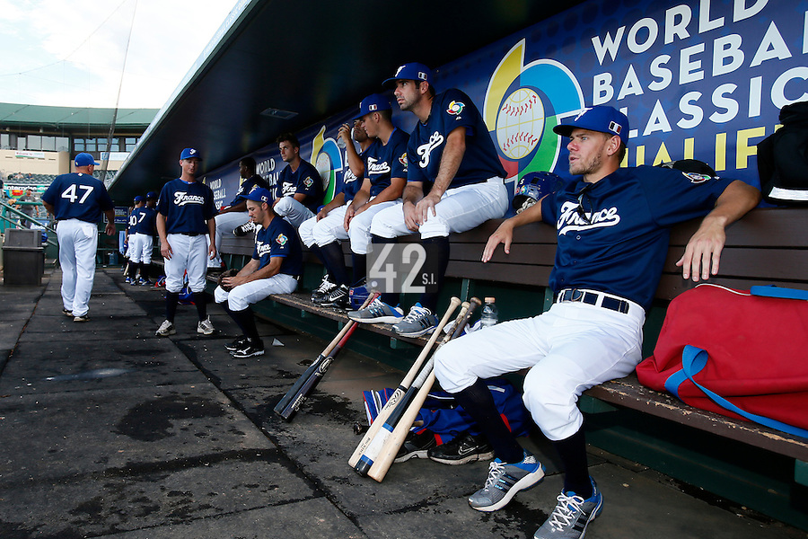 20 September 2012: Team France players are seen prior to Spain 8-0 win over France, at the 2012 World Baseball Classic Qualifier round, in Jupiter, Florida, USA.