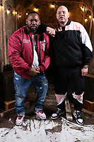 NEW YORK , NY - JANUARY 26: ***EXCLUSIVE*** Raekwon and Fat Joe pictured at Fat Joe's Coca Vision Podcast in New York City on January 26, 2018. Credit: Walik Goshorn/MediaPunch
