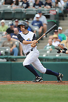 Trenton Thunder infielder Dan Fiorito (17) during game against the Erie Sea Wolves at ARM & HAMMER Park on May 15, 2014 in Trenton, NJ.  Erie defeated Trenton 4-2.  (Tomasso DeRosa/Four Seam Images)