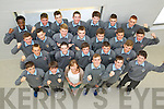 Students from CBS, Secondary School, The Green, pictured on Tuesday, as they are taking part in the Young Entrepreneur project, with teacher Miss Aoife Costello, front l-r: Oisin Fitzgerald, John Carroll, Aoife Costello, Gary Nolan, Brendan O'Donovan and Daryl O'Mahony. Second row l-r: Sean Atkinson, Jason Dyland, Michael Costello, Adam Buckley and Gavin Hanafin. Third row l-r: Ben O'Neill, Dylan Enright, Eoin O'Brien, Brian Cullinane, Cathal Ó Murchú, Max Benner and Dan Kinsella. Back l-r: Segun Deguyle, Joe Slattery, Stephen Brown, Anthony Craig, Anthony Lonergan, Shane Lowth and Jack Morgan.
