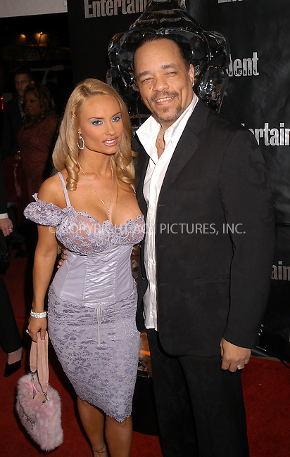WWW.ACEPIXS.COM . . . . .  ....NEW YORK, FEBRUARY 29, 2004....Ice T and Coco in attendance at Entertainment Weekly's 10th Annual Oscars Viewing Party in NYC.....Please byline: AJ Sokalner - ACE PICTURES..... *** ***..Ace Pictures, Inc:  ..Alecsey Boldeskul (646) 267-6913 ..Philip Vaughan (646) 769-0430..e-mail: info@acepixs.com..web: http://www.acepixs.com