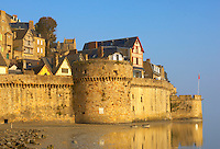 Mont Saint-Michel Town Walls - Brittany - France