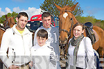 Robert Counihan, Gary Dineen, Jamie Brosnan and Danielle Brosnan looking at the horses at the Milltown Fair on Sunday