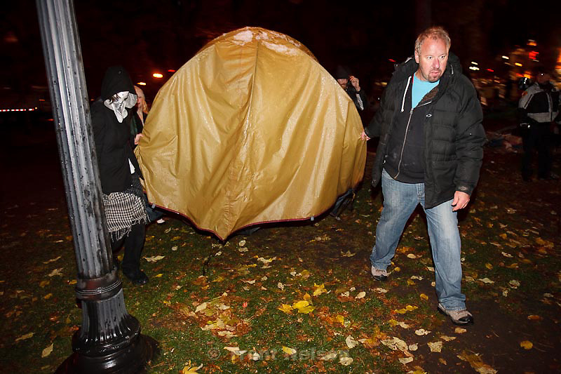 Trent Nelson  |  The Salt Lake Tribune.Salt Lake City police cleared the Occupy Salt Lake tent city from Pioneer Park in Salt Lake City, Utah, Saturday, November 12, 2011.