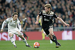 Real Madrid's Luka Modric and AFC Ajax's Frenkie de Jong  during a UEFA Champions League match. Round of 16. Second leg. March, 5,2019. (ALTERPHOTOS/Alconada)