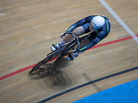 25th January 2020; National Cycling Centre, Manchester, Lancashire, England; HSBC British Cycling Track Championships; Charlotte Robinson wins heat three of the female keirin