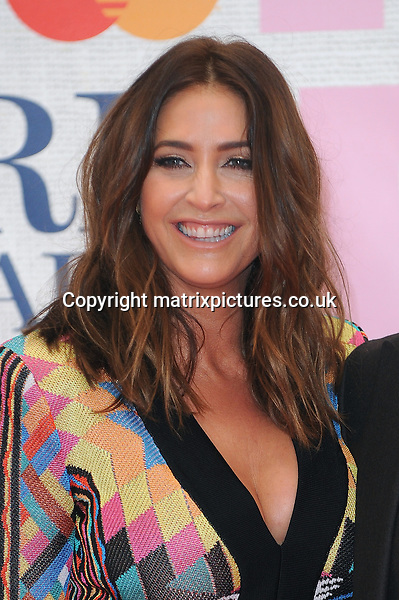 NON EXCLUSIVE PICTURE: PAUL TREADWAY / MATRIXPICTURES.CO.UK<br /> PLEASE CREDIT ALL USES<br /> <br /> WORLD RIGHTS<br /> <br /> English presenter Lisa Snowdon attending the BRIT Awards 2015 at the O2 Arena, in London.<br /> <br /> FEBRUARY 25th 2015<br /> <br /> REF: PTY 15627