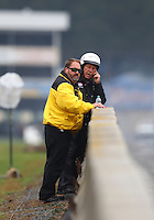 Oct 2, 2016; Mohnton, PA, USA; NHRA safety safari member Jeff Parker during the Dodge Nationals at Maple Grove Raceway. Mandatory Credit: Mark J. Rebilas-USA TODAY Sports