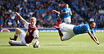 Arnold Peralta fouled by Colin Hamilton