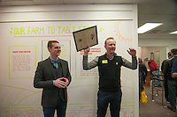 Morgan Spurlock yells &quot;Holy Chicken&quot; holding a proclamation from the State of Ohio presented to him by Wolf Starr of Connect Columbus congratulating him on the opening of his new restaurant.<br /> <br /> Morgan Spurlock opens &quot;Holy Chicken,&quot; a faux fast food restaurant in Columbus, Ohio, where a documentary crew recorded his interaction with customers who thought they were dining at a new type of fast food restaurant. However, the entire location was designed to be part of his documentary highlighting the marketing of food that may not be as healthy as it is stated in advertisement, banners, and notices at the restaurant.