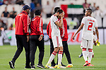 Players of United Arab Emirates reacts after losing the AFC Asian Cup UAE 2019 Semi Finals match between Qatar (QAT) and United Arab Emirates (UAE) at Mohammed Bin Zaied Stadium  on 29 January 2019 in Abu Dhabi, United Arab Emirates. Photo by Marcio Rodrigo Machado / Power Sport Images