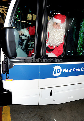 STATEN ISLAND, NY - DECEMBER 21: Vincent Pastore dresses as Santa during the Kids Against Cancer Toy Drive at the Staten Island Bus Depot in New York City on December 21, 2016. Credit: Dennis Van Tine/MediaPunch