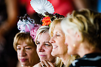 BALTIMORE, MD - MAY 19: A group of woman enjoy the races on Black-Eyed Susan Day at Pimlico Race Course on May 19, 2017 in Baltimore, Maryland.(Photo by Douglas DeFelice/Eclipse Sportswire/Getty Images)