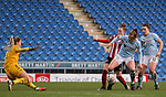Jade Pennock of Sheffield United shoots at goal during the The FA Women's Championship match at the Proact Stadium, Chesterfield. Picture date: 12th January 2020. Picture credit should read: James Wilson/Sportimage