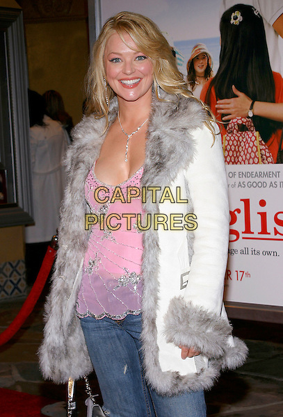 """CHARLOTTE ROSS.Attends the Los Angeles premiere of """"Spanglish"""" held at the Mann's Village Theatre, Westwood, California, USA, December 9th 2005..half length white coat grey fur collar inside cuffs.Ref: ADM.www.capitalpictures.com.sales@capitalpictures.com.©JWong/AdMedia/Capital Pictures ."""