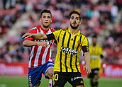 June 4th 2017, Estadi Montilivi,  Girona, Catalonia, Spain; Spanish Segunda División Football, Girona versus Zaragoza; Granell from Zaragoza closes down Javi Ros (Girona)
