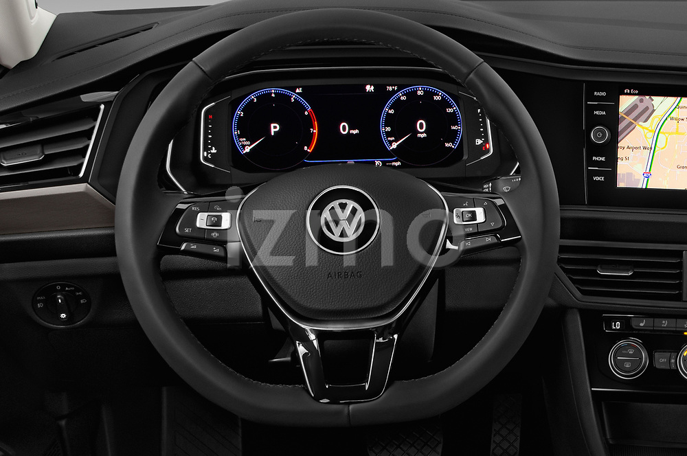 Car pictures of steering wheel view of a 2019 Volkswagen Jetta SEL Premium 4 Door Sedan