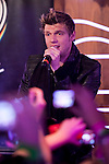 "Nick Carter of the Backstreet Boys attends a fan meeting performance concert during their new music album ""In A World Like This"" presentation at 40 Principales Cafe on November 12, 2013 in Madrid, Spain. (ALTERPHOTOS/Victor Blanco)"